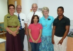 Us with Elder and Sister Jacobsen, Lisa, a returning member, and Frank a less active member.